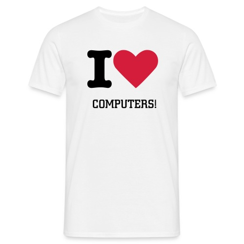 I Love Computers - Men's T-Shirt