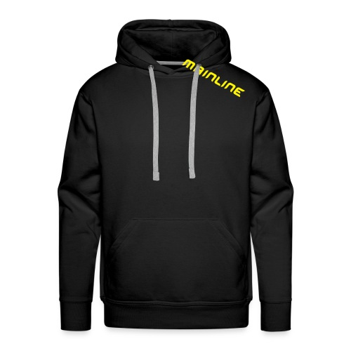mainline yellow on black hoody - Men's Premium Hoodie