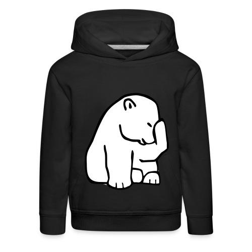 felpa orsetto - Felpa con cappuccio Premium per bambini