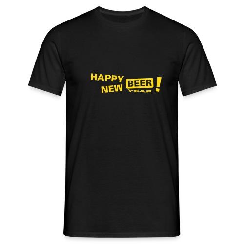 happy_new_bier - Männer T-Shirt