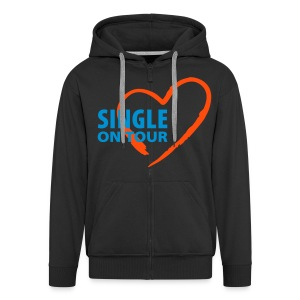 T-Shirt Bio Single in Love 003 - Veste à capuche Premium Homme