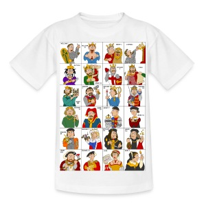 Kings & Queens of England (Kids' Front & Back) - Teenage T-shirt