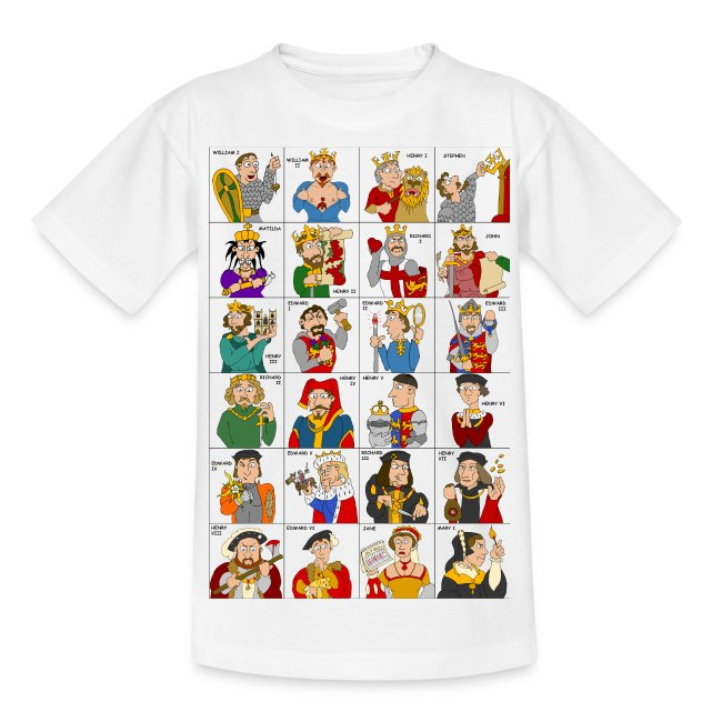 Kings & Queens of England (Kids' Front & Back)