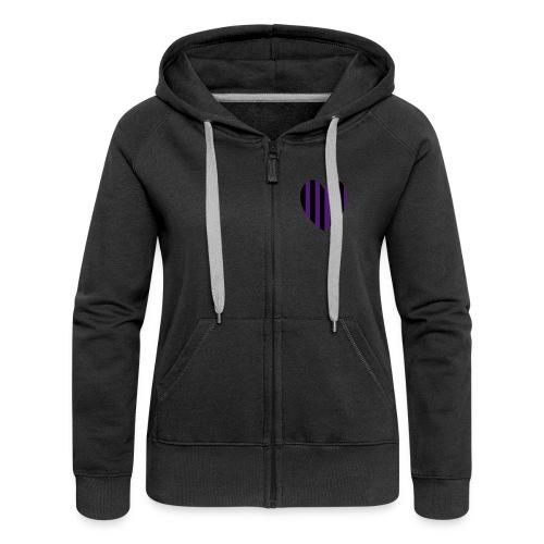 Purple Stripe hood - Women's Premium Hooded Jacket