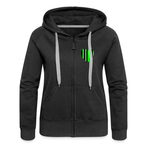 Green Stripe hood - Women's Premium Hooded Jacket