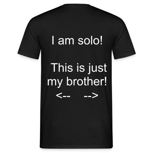 This is just my brother! - Backprint - Männer T-Shirt