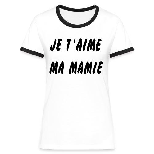 T-shirt contrasté Femme