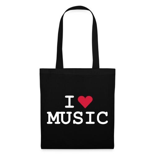 Tasche I Love Music - Stoffbeutel