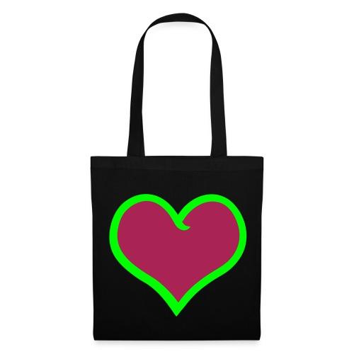 Tasche Herz - Stoffbeutel