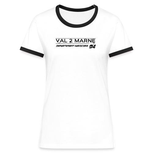V2M1 - T-shirt contrasté Femme
