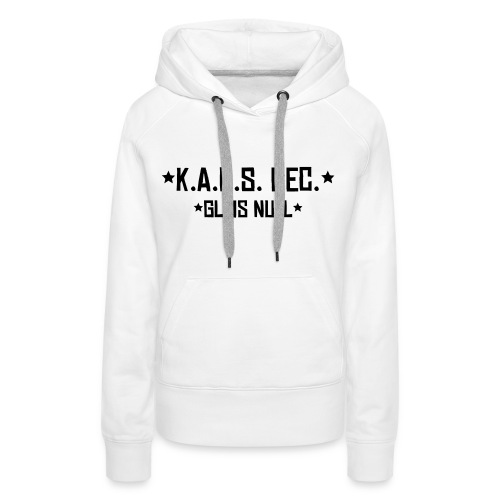 SUPPORTER SWEAT K.A.O.S. white girl - Frauen Premium Hoodie