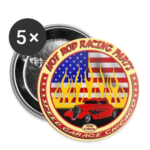 5 Hot Road Pins - Confezione da 5 spille media (32 mm)