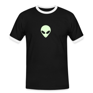 Alien/OM (Glow in the dark)  - Männer Kontrast-T-Shirt