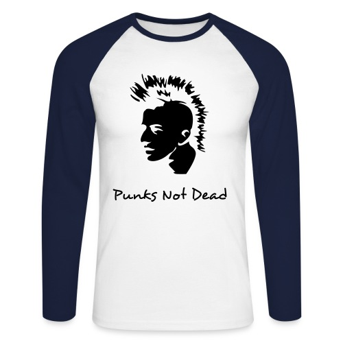 Punks not dead - Men's Long Sleeve Baseball T-Shirt