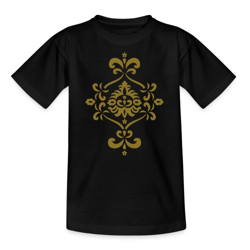 Barockmotiv (gold) auf Kindershirt - Teenager T-Shirt