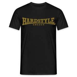 Hardstyle Sweden - Guldtryck - Flera tröjfärger - T-shirt herr