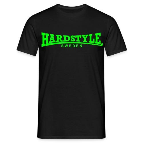 Hardstyle Sweden - Neongrönt tryck - Flera tröjfärger - T-shirt herr