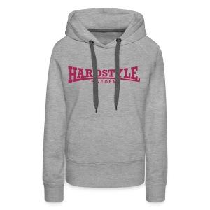 Hardstyle Sweden -  Rosa tryck - Flera tröjfärger - Premiumluvtröja dam