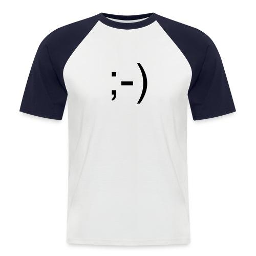 ;-) - Männer Baseball-T-Shirt
