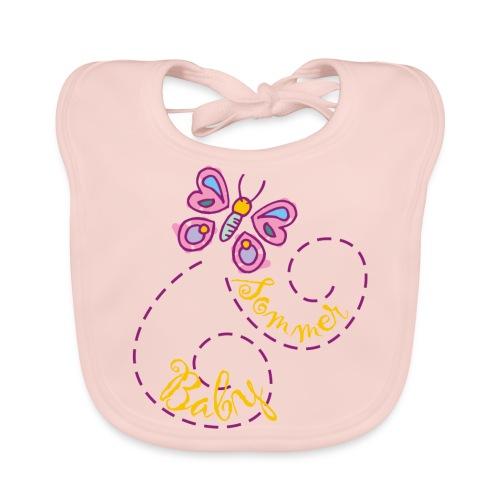 Sommer Baby Lätzchen rosa - Baby Bio-Lätzchen