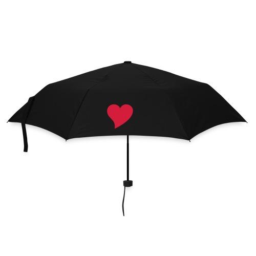 Regeschirm mit Herzmotiv - Regenschirm (klein)