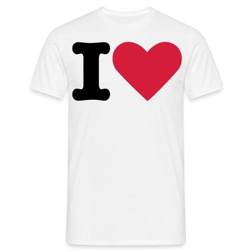 I love - T-skjorte for menn