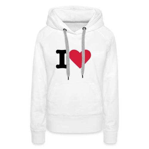 I Heart Ladies' Hoodie - Women's Premium Hoodie