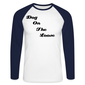 Men's D.O.T.L Sky Blue/Navy Raglan Long Sleeve - Men's Long Sleeve Baseball T-Shirt