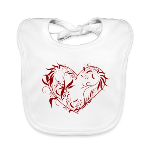 heart - Ekologisk babyhaklapp