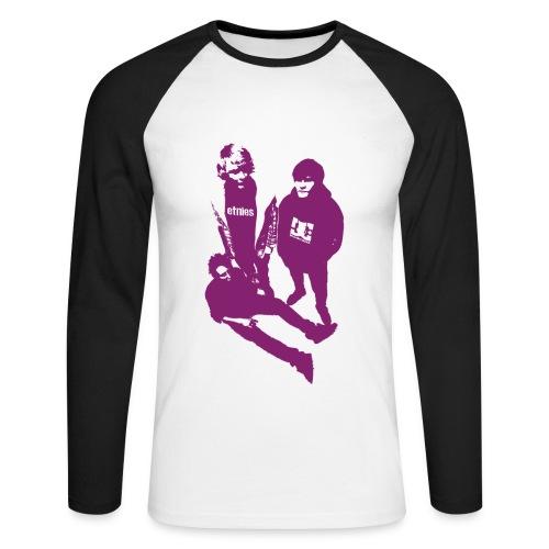 Trendsettar langermet - Langermet baseball-skjorte for menn