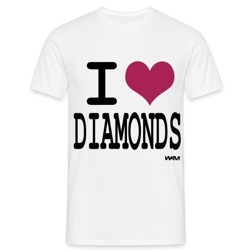 I ♥ Diamonds - Männer T-Shirt