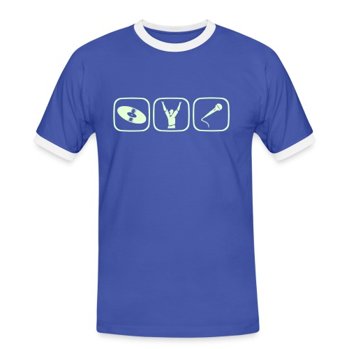 NightDisco - Koszulka męska z kontrastowymi wstawkami