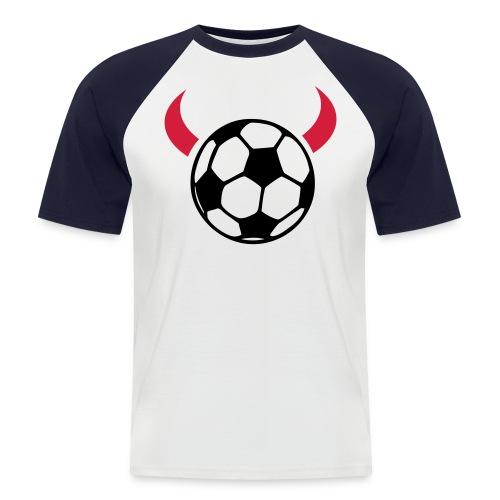 soccer evil - Koszulka bejsbolowa męska