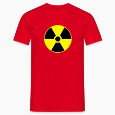 Red atom character - waste - nuclear Men's Tees