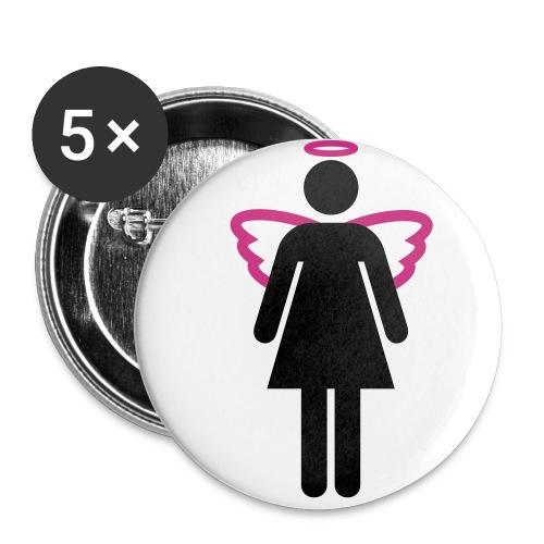 Angel Woman Button - Buttons klein 25 mm