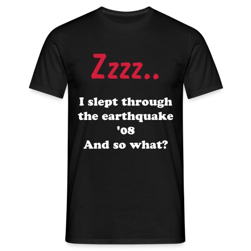 Denmark earthquake survivor - Herre-T-shirt