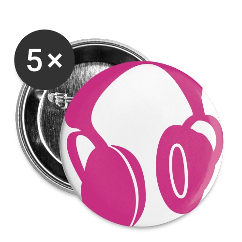 HeadPhonesButton - Buttons large 2.2''/56 mm(5-pack)