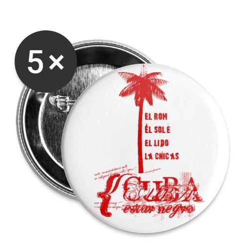 Sticker Cuba - Palm - Buttons medium 32 mm