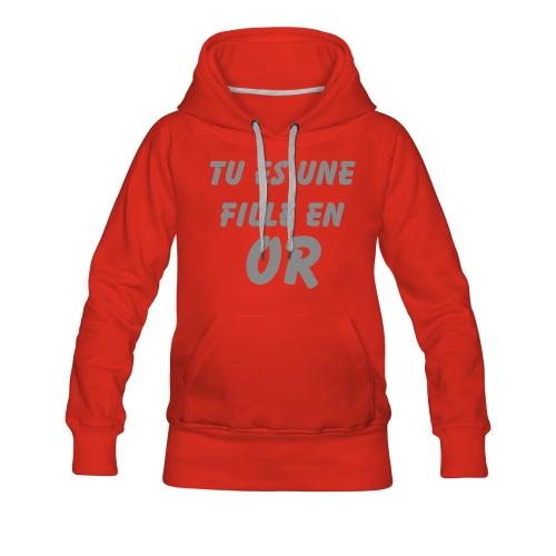 FILLE  - Sweat-shirt à capuche Premium pour femmes