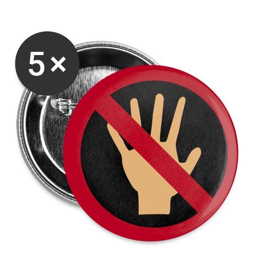 don't tutchmy - Przypinka mała 25 mm (pakiet 5 szt.)