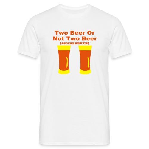 tee shirt basique homme beer - T-shirt Homme