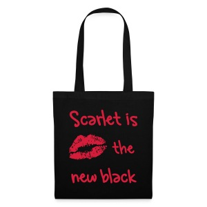 'Scarlet is the new black' - Tote Bag