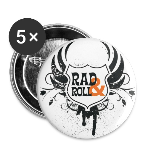 Rad and Roll Badges - Buttons mittel 32 mm