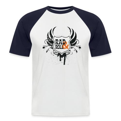 Rad and Roll T Shirt - blaue Arme - Männer Baseball-T-Shirt