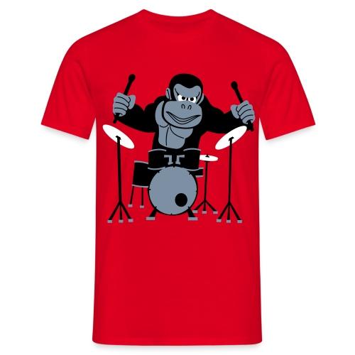 Drumming Gorilla - Men's T-Shirt