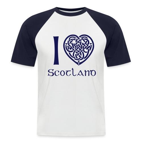 I Love Scotland - Men's Baseball T-Shirt