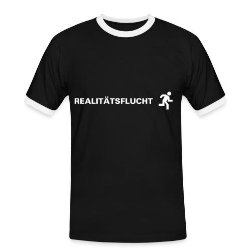 Realitätsflucht - Männer Kontrast-T-Shirt
