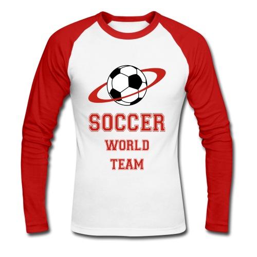 soccer - Men's Long Sleeve Baseball T-Shirt