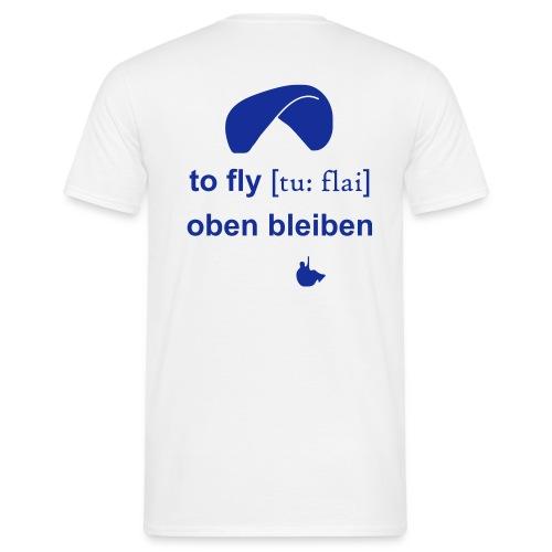 Pilot weiß/blau - Männer T-Shirt