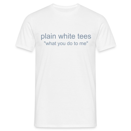 plain white tees - hickton - Men's T-Shirt